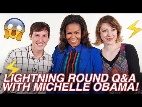 LIGHTNING ROUND Q&A W/ MICHELLE OBAMA!
