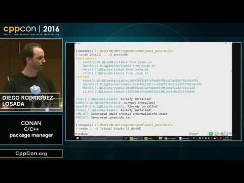 """CppCon 2016: Diego Rodriguez-Losada """"Conan, a C and C++ package manager for developers"""""""