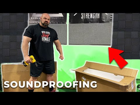 Pt.7 $500K DREAM HOME GYM BUILD | SOUNDPROOFING