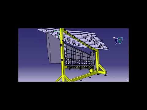 Delmia Vertical Stabilizer Assembly Simulation