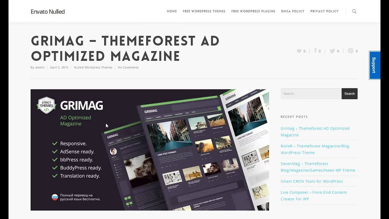 Download Grimag | Wordpress Themeforest AD Optimized Magazine Theme ...