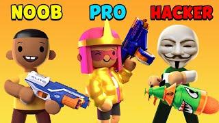 NOOB vs PRO vs HACKER - NERF Epic Pranks