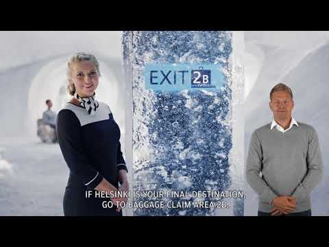 In-flight video: Arrival in Helsinki video with international sign language