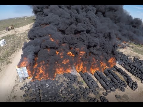 Tire fire in West Odessa 4-9-2017