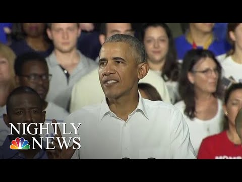 Barack Obama On The Campaign Trail In Midterm Push For Democrats | NBC Nightly News