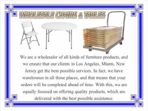 wholesale chairs and tables in los angeles kelly green chair sashes ask for on discount from larry hoffman
