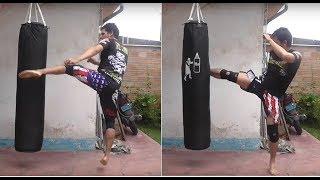 Mejora tus Patadas con este Ejercicio - Cardio con patadas- Muay Thai - K1