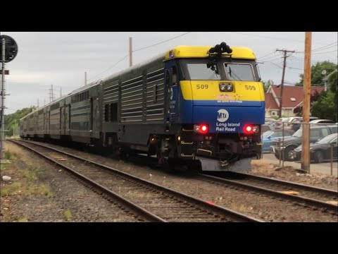 LIRR Trains at Glen Cove and Glen Head 6/25/18 & 6/27/18 Ft Marc Purcell!
