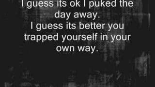 The Used - Buried Myself Alive ( Lyrics )