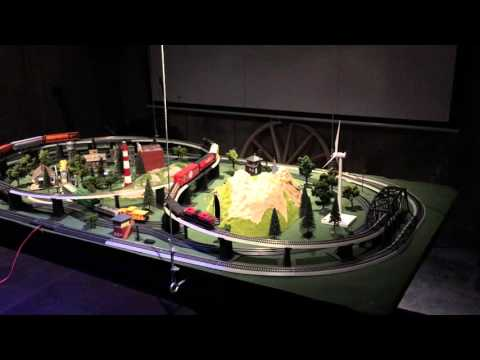HO Scale Complete Multi-Train Layout with Tracks, Trains, Controller and Scenery Elements Part 2