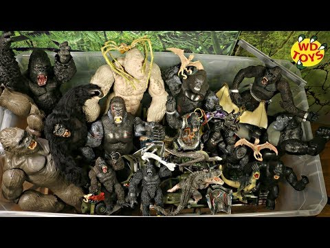 GIANT BOX KING KONG SKULL ISLAND TOYS!! New 50 Gallon Box Surprise Toys Rampage The Movie & Kong