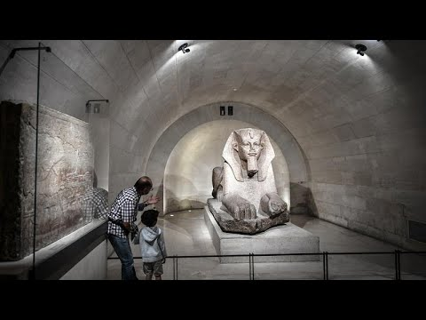 Ancient Egyptian antiquities exhibit at Paris Louvres Museum reopens