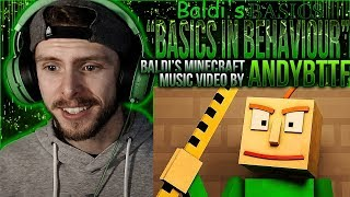 "Vapor Reacts #753 BALDI'S BASICS SONG ""Basics in Behavior"" Minecraft Animation by AndyBTTF REACTION"