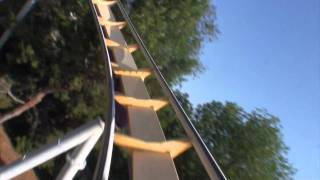 vortex roller coaster pov only front seat onride california s great america b stand up