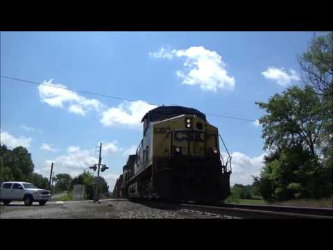 Railfanning CSXT at Trinity Road, Moran, & Brentwood (Late May 2016)