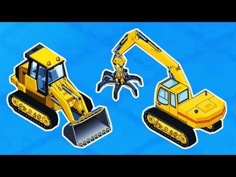 [ ใหม่ ] เกมส์ประกอบ แม็คโคร 【วีดีโอสำหรับเด็ก】รถแมคโครตักดิน รถแทรกเตอร์ รถเครน GAME KIDS
