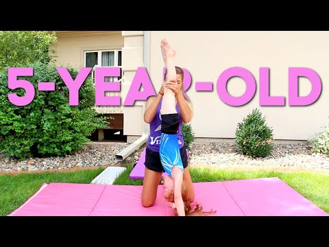 Teaching a 5 Year Old a Handstand in ONE Day!