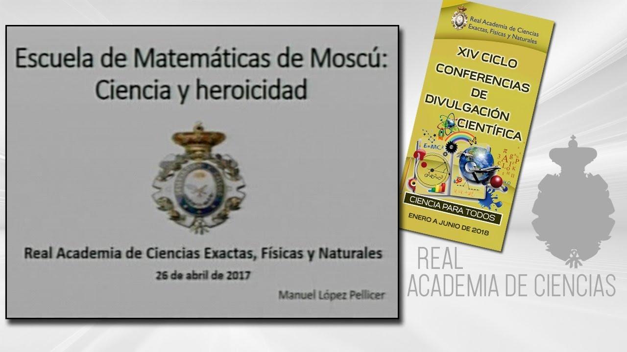 Manuel López Pellicer, 26 de abril de 2018.14º conferencia delXIV CICLO DE CONFERENCIAS DE DIVULGACIÓN CIENTÍFICA.CIENCA PARA TODOS 2018http://www.rac.eshttps://twitter.com/racienciashttps://arac.rac.es/