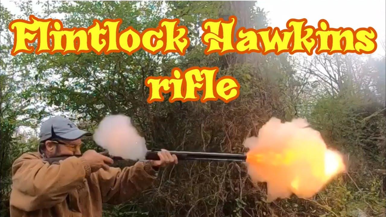 Thompson center flintlock Hawkins rifle