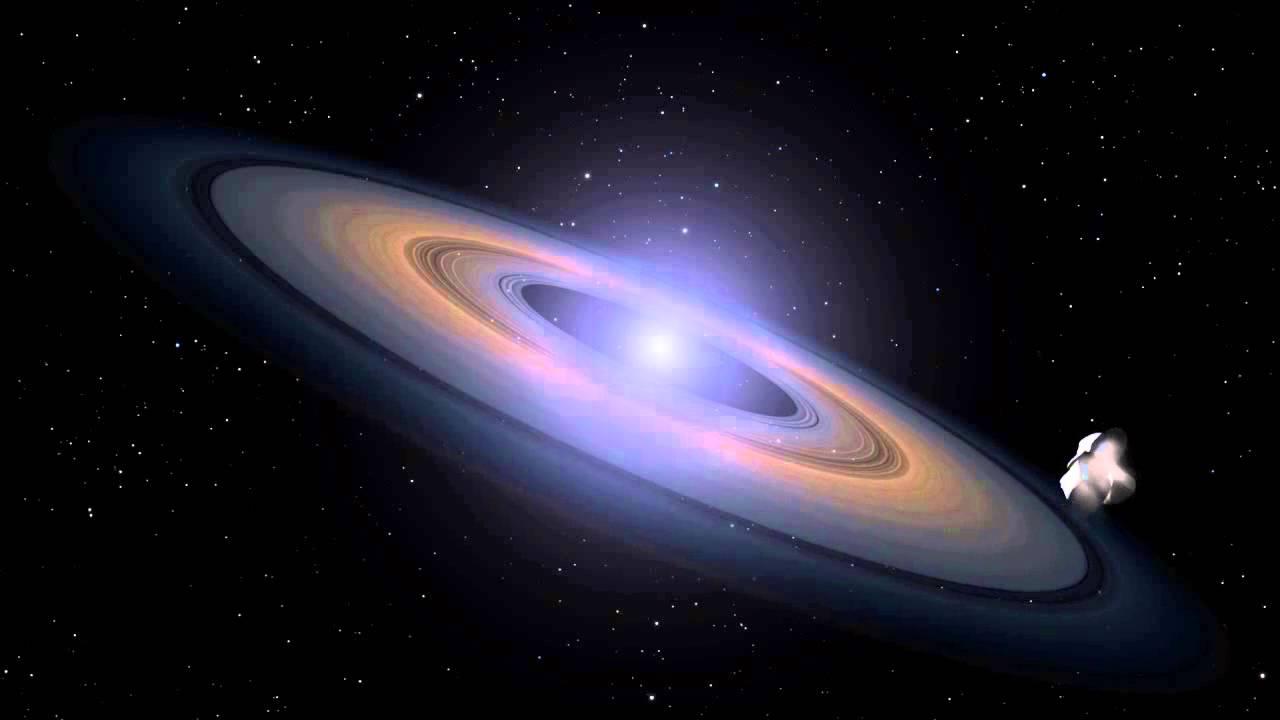 Ring of rocky debris around a white dwarf star (artist's ...