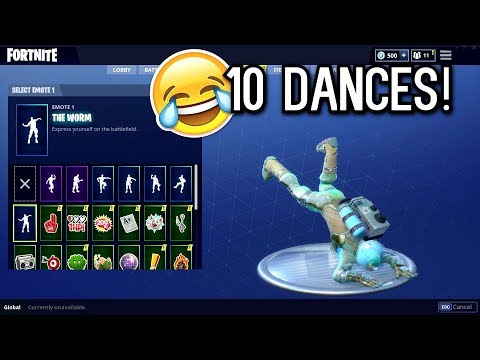 Fortnite NEW LEVIATHAN SKIN SHOWCASED WITH 10 DANCES/EMOTES
