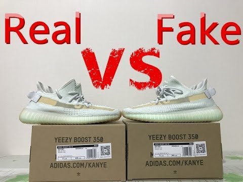 1bd04244eee32 Real vs Fake Review YEEZY BOOST 350 V2 HYPERSPACE + On Foot - YouTube