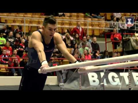 Illinois Men's Gymnastics Big Ten Championships Event Finals Highlights 4/2/16