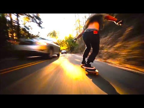 Extremely fast downhill longboarding by Bear Trucks!