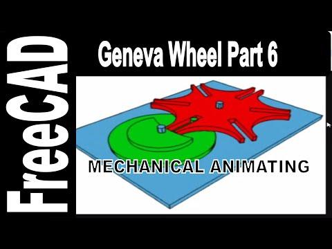Geneva Wheel Build Part 6: Mechanic Movement Animation with Python in FreeCAD
