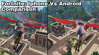 Fortnite Android VS Fortnite IOS - Fortnite iPhone x vs Fortnite Note 8 (both medium settings)