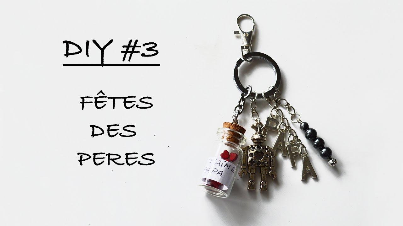 2146db51e38 Tuto DIY  3  Porte clef fête des pères - Partenariat Pimpomperles ...