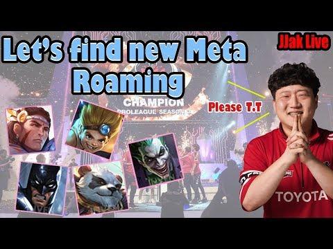 New MetA Roaming Day   JJak Live (傳說對決,펜타스톰,Rov , Arena Of Valor, Liên Quân)