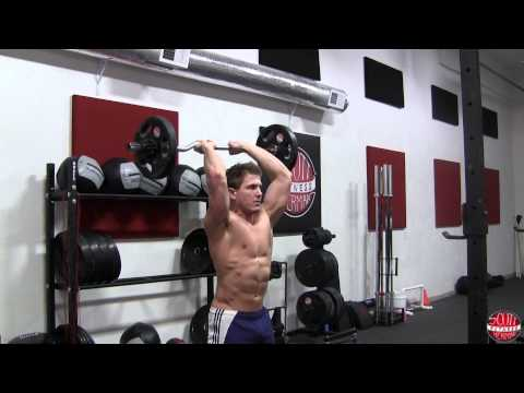 How To: Standing Overhead Tricep Extension with E-Z Curl Bar