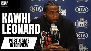 "Kawhi Leonard on Luka Doncic: ""He's Playing Great"", Paul George Chemistry & Montrezl Harrell"