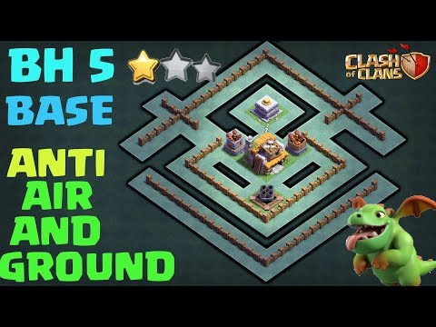 ⚔BH5 Base-Builder Hall 5 | IMPOSSIBLE 2 STAR With Replay Anti Giant | Anti Barcher Anti Air Troops