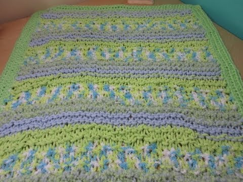 How To Knit A Baby Blanket For Beginners Youtube