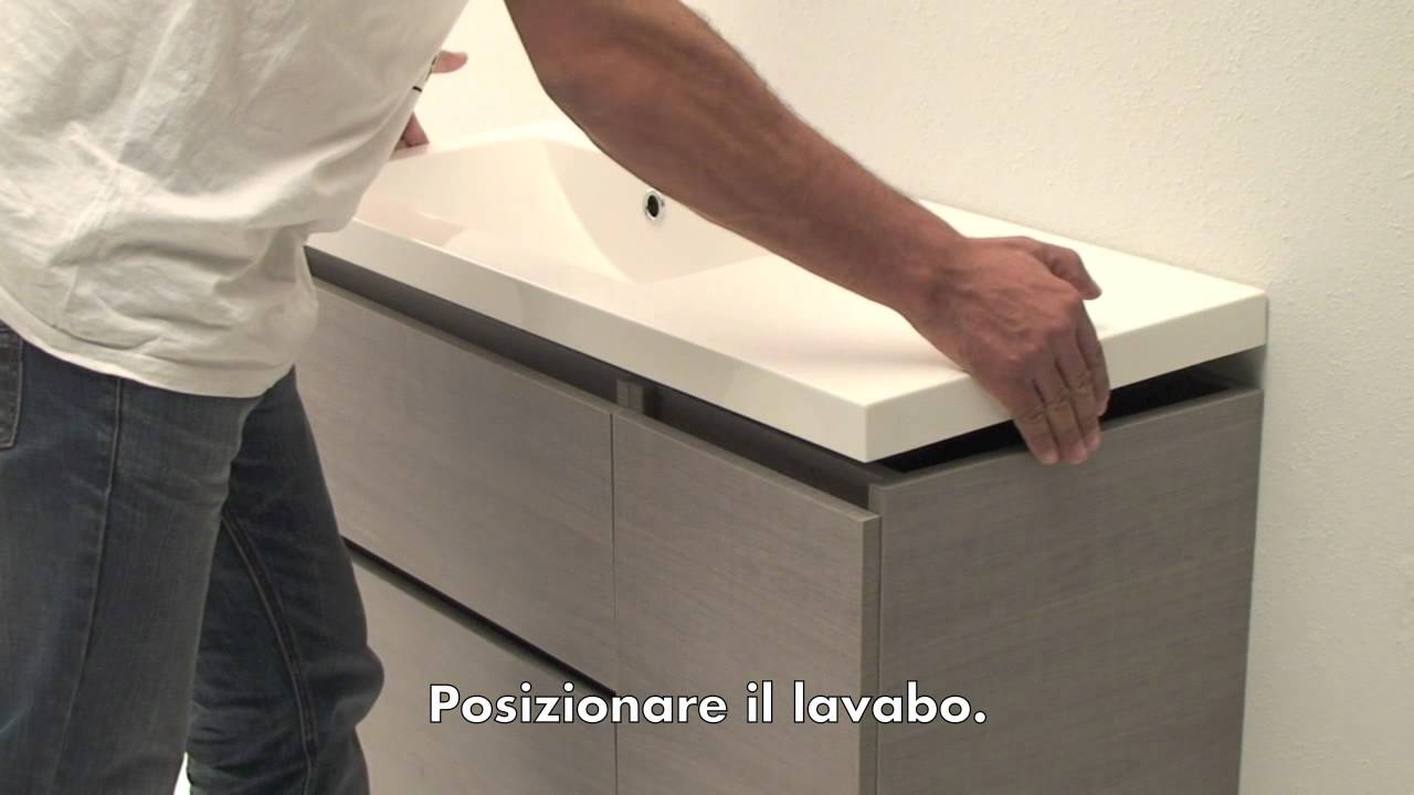 istruzioni montaggio mobile bagno youtube. Black Bedroom Furniture Sets. Home Design Ideas
