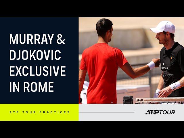 INTENSE Andy Murray & Novak Djokovic Rome Practice 4K