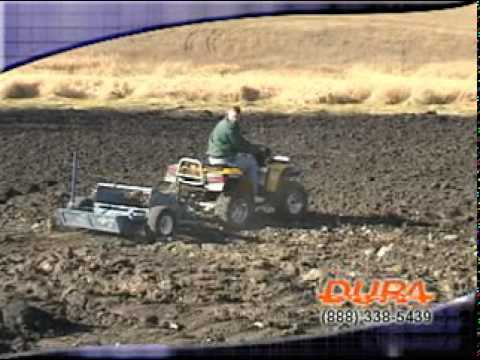 duragrade hydraulic rock picker for atvs and utility tractors youtube