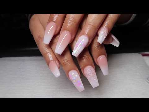 How To Do A French Ombre Coffin Nails
