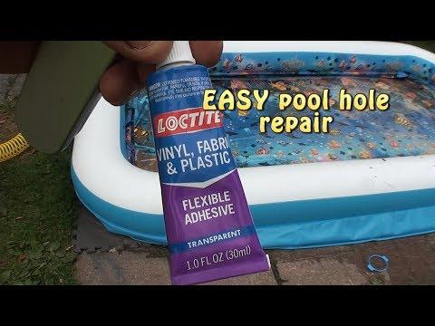 Inflatable pool leak repair. EASY