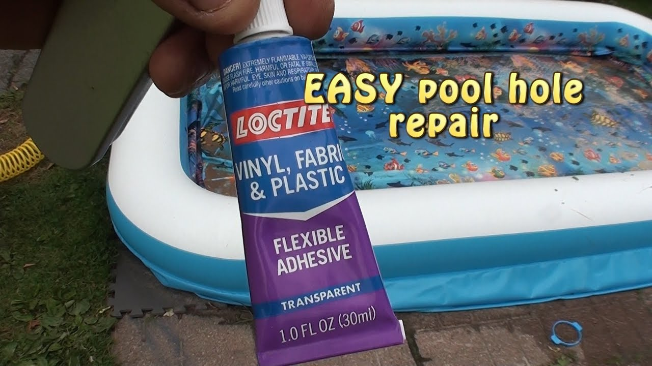 Inflatable Pool Leak Repair Easy Youtube