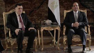 لقاء رئيس المجلس الرئاسي لحكومة الوفاق الوطني مع الرئيس عبد الفتاح السيسي