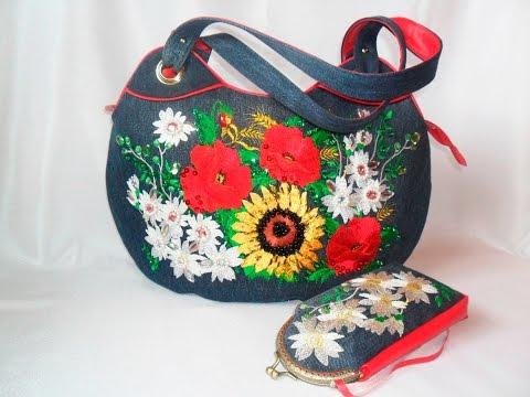 Сумка женская из ткани - Handmade womens fabric bag (BCW057)