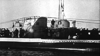 Soldiers on a German submarine underway at the Mediterranean Sea. HD Stock Footage
