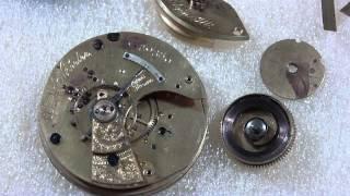 How I repair a broken mainspring barrel, Elgin National Watch Co.