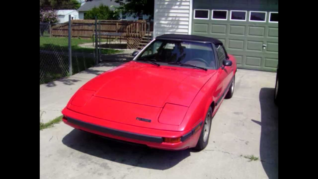 1983 mazda rx7 rx 7 gsl convertible rotary 12a 5 speed youtube. Black Bedroom Furniture Sets. Home Design Ideas