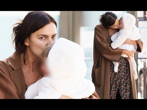 Irina Shayk plants sweet smooches on baby Lea in LA