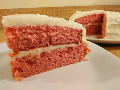 Strawberry Cake With Jello