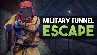 MILITARY TUNNEL ESCAPE! - Rust Survival